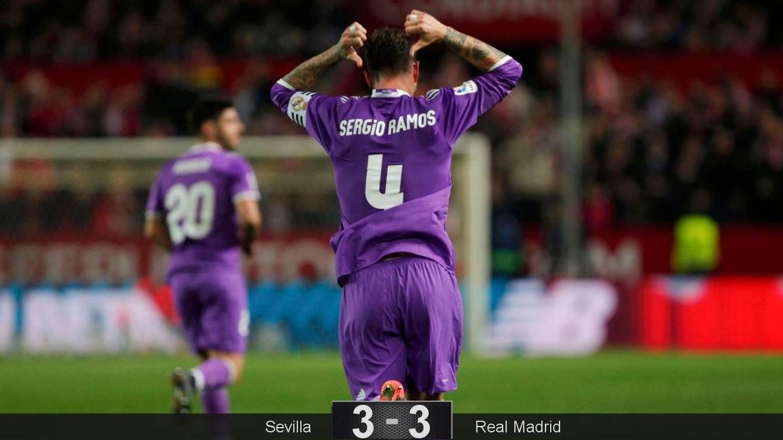 Zidane mantiene su flor y Ramos calienta aún más la visita liguera al Pizjuán