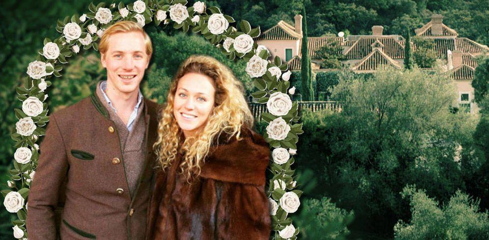 Foto: Marie-Gabrielle de Nassau y Antonius Willms en la finca en la que se casarán