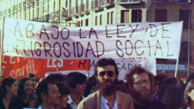 Manifestación contra la Ley de Peligrosidad Social aprobada en 1970