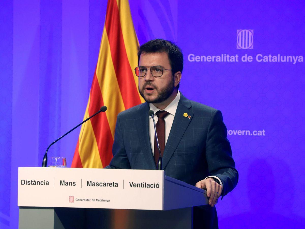 Foto: El presidente en funciones de la Generalitat, Pera Aragonés. (EFE)