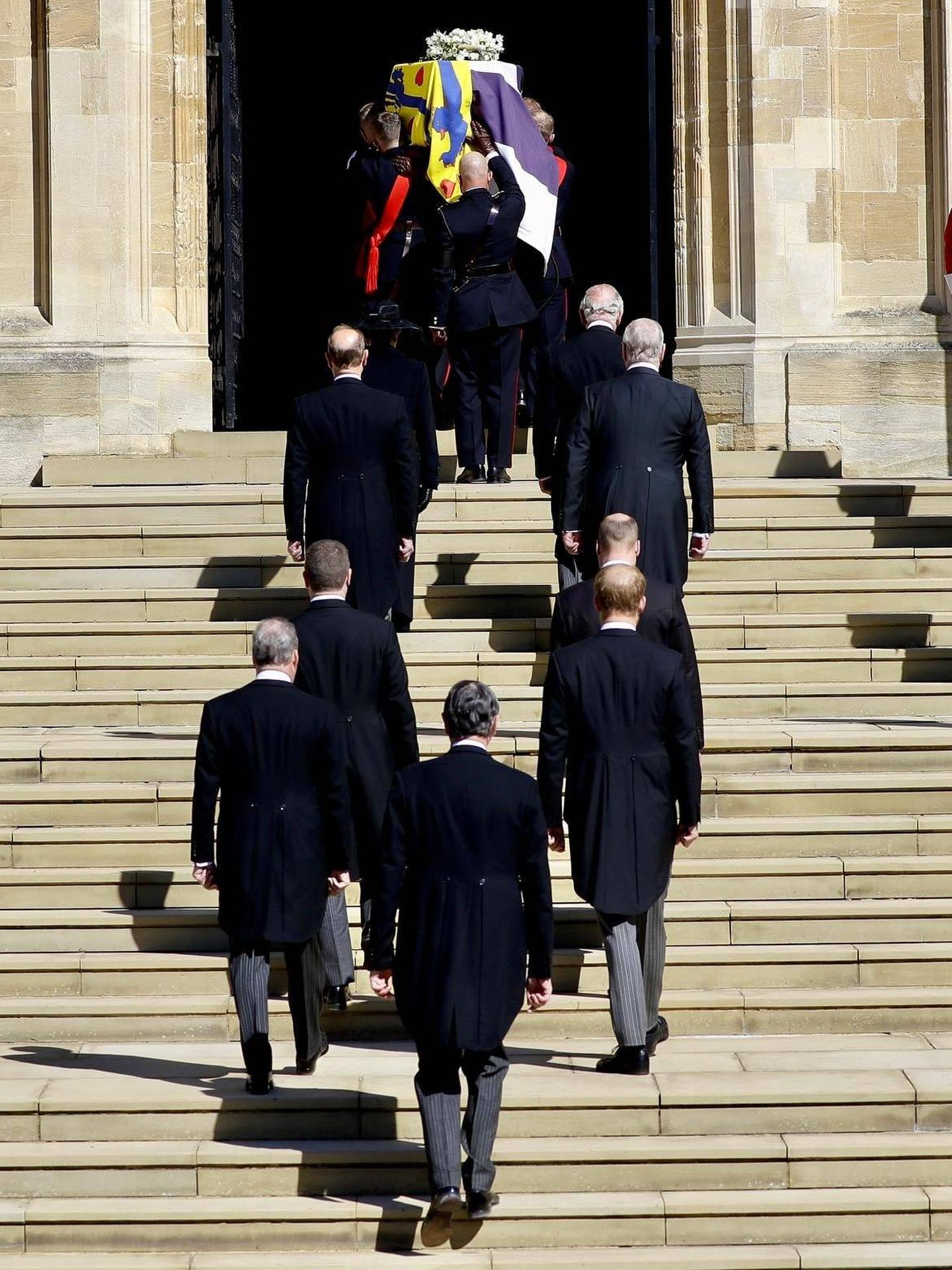 El cortejo fúnebre en el último adiós al duque de Edimburgo. (Palacio de Buckingham)