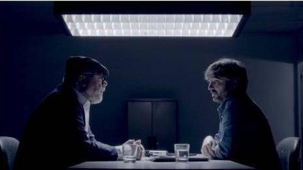 Foto: El comisario Villarejo, durante un momento de la entrevista concedida a Jordi Évole. (La Sexta)