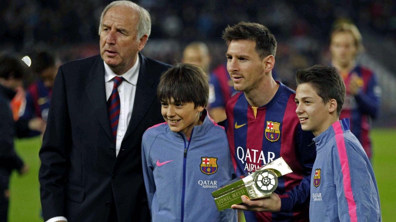 Charly Rexach, junto a Leo Messi. (EFE)