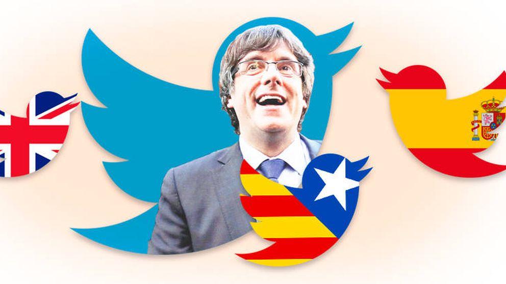 Del catalán al inglés: así usa Puigdemont su Twitter como maquinaria de propaganda