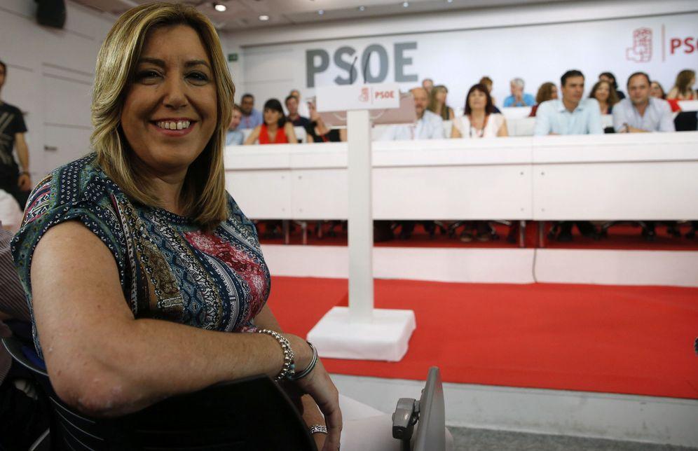 Foto: Susana Díaz, al comienzo del comité federal de los socialistas de este 9 de julio. (EFE)
