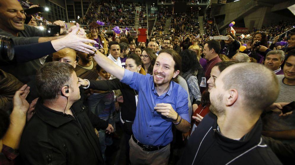 Foto: El secretario general de Podemos, Pablo Iglesias, durante un acto de campaña en Alicante. (Efe)