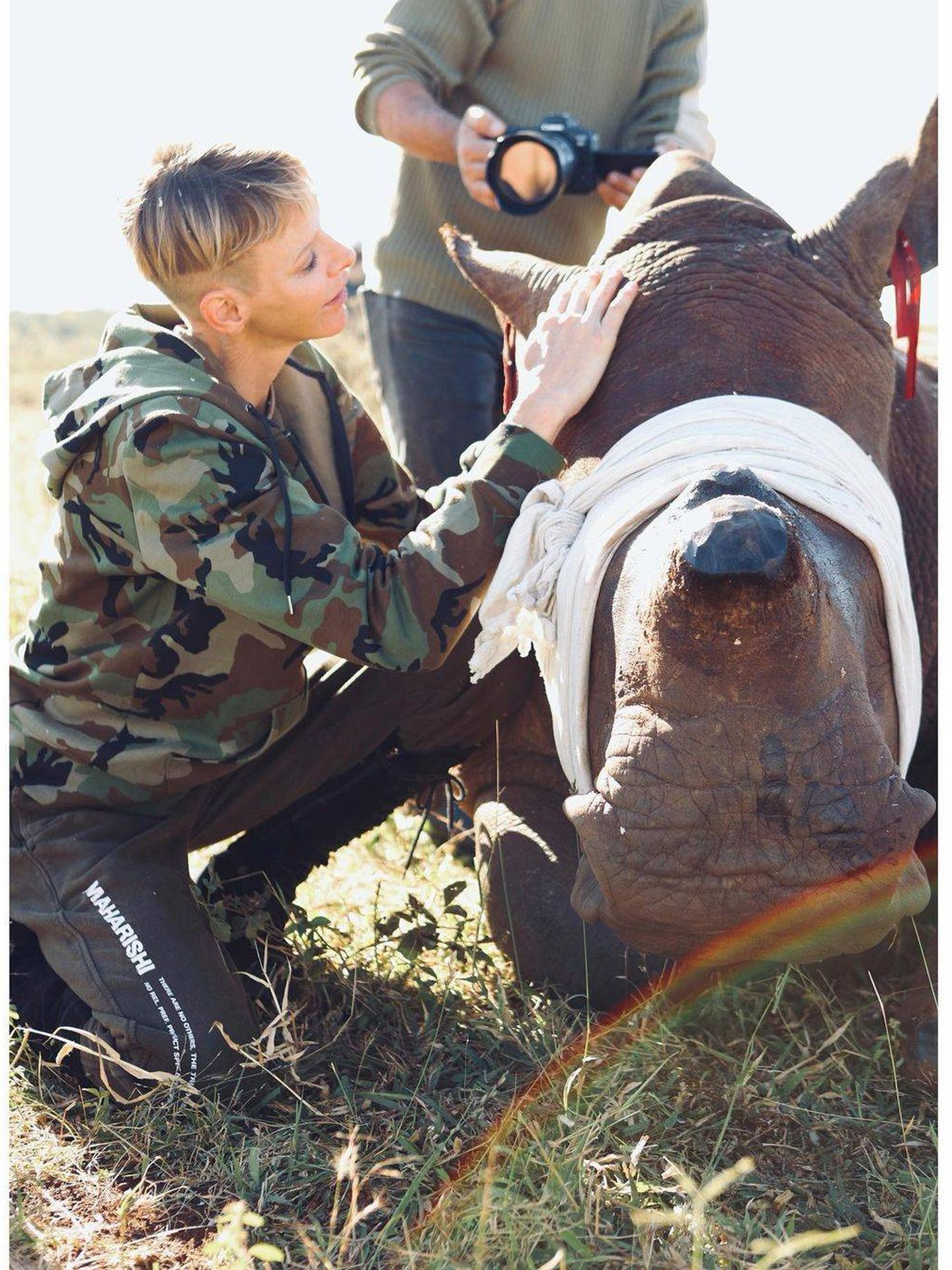 La princesa Charlène en Sudáfrica. (Redes)