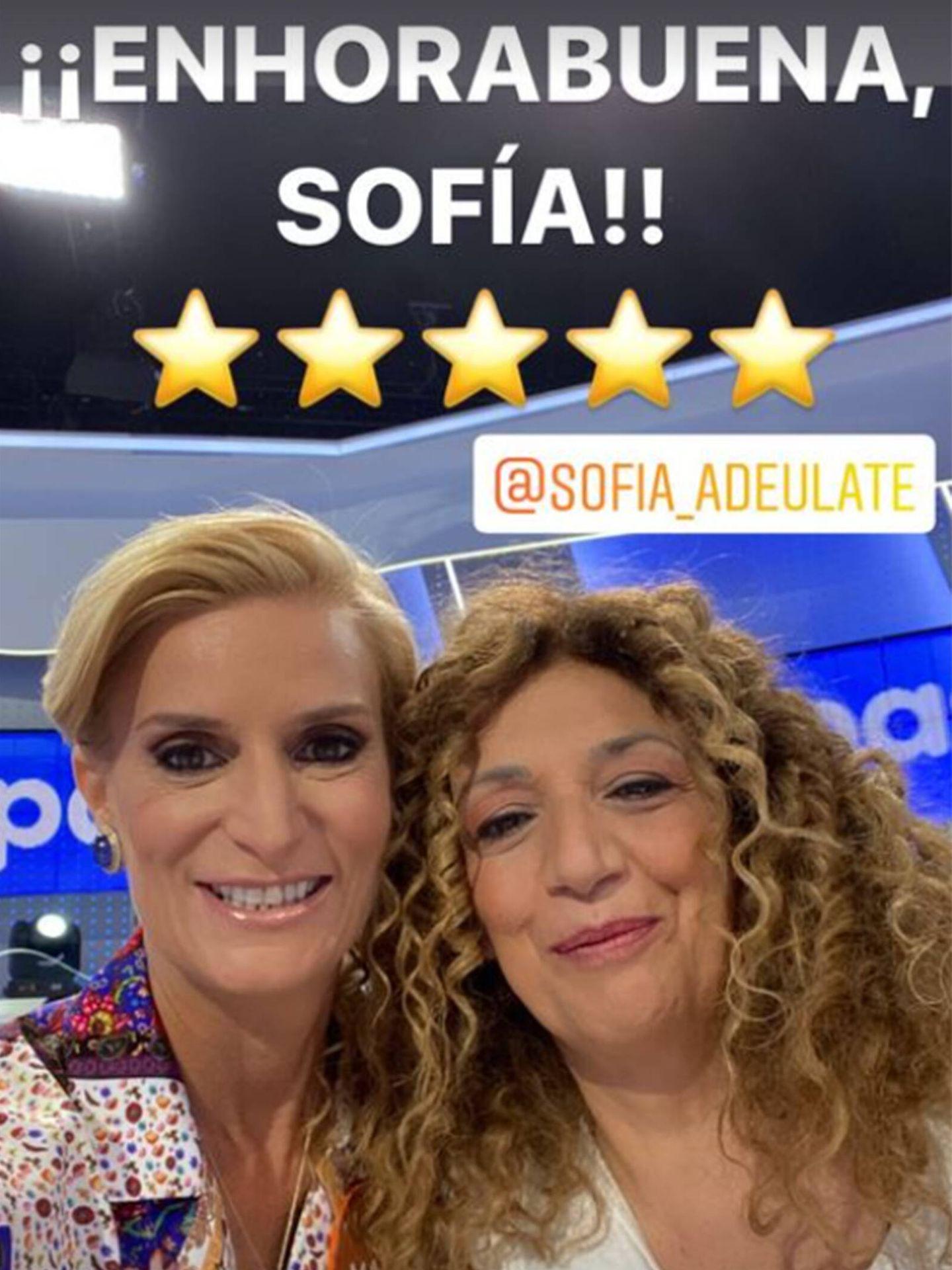 María Zurita y Sofía Álvarez ('Pasapalabra') posan en redes sociales. (Instagram @mariazuritaborbon)