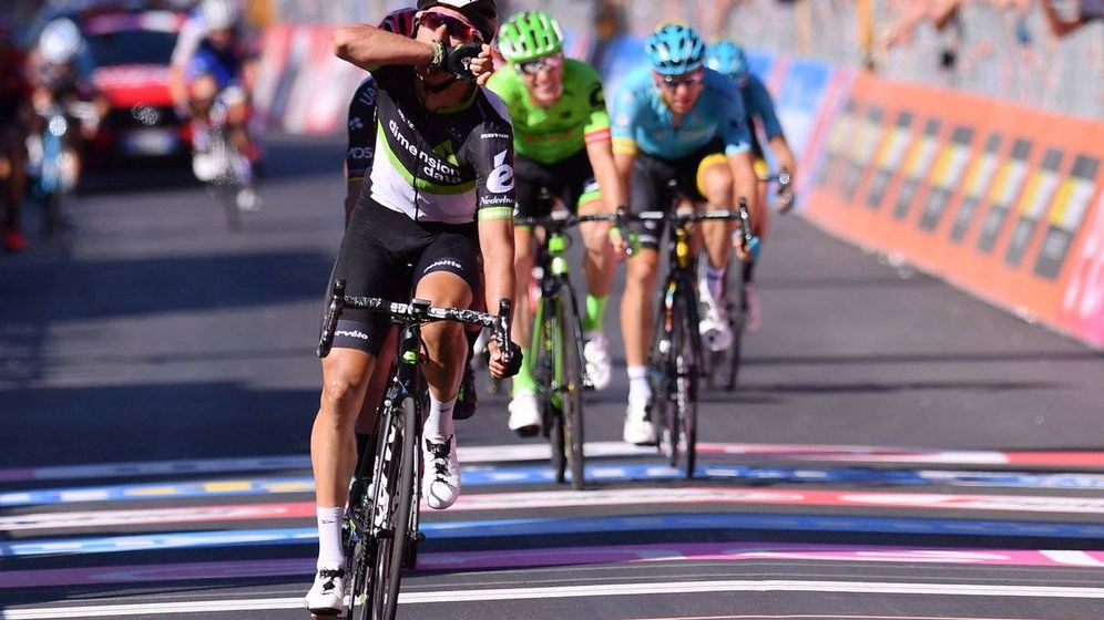 Foto: Omar Fraile ganó su primera etapa en el Giro. (Giroditalia)