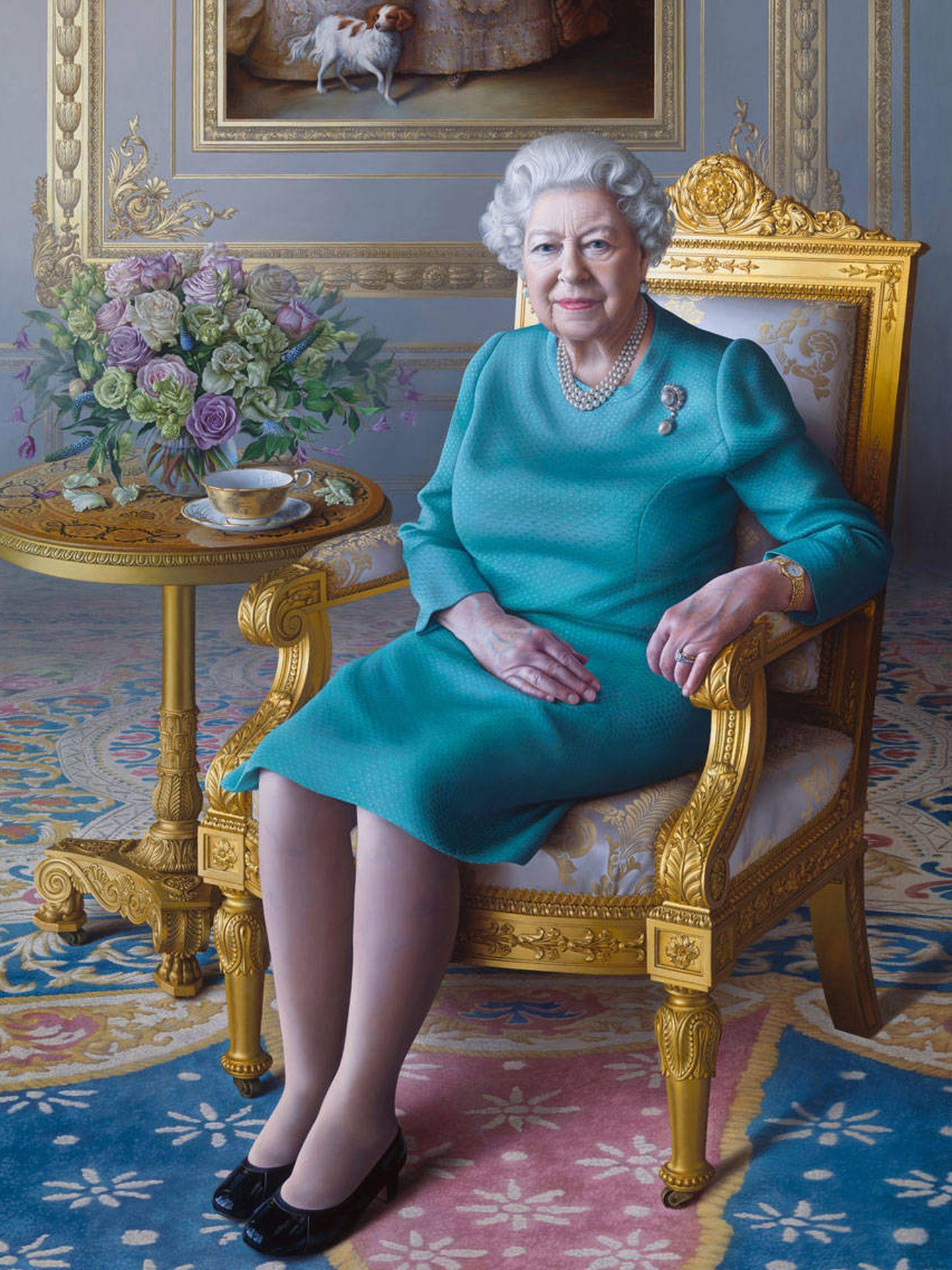Retrato de Isabel II realizado por Miriam Escofet. (Cortesía)