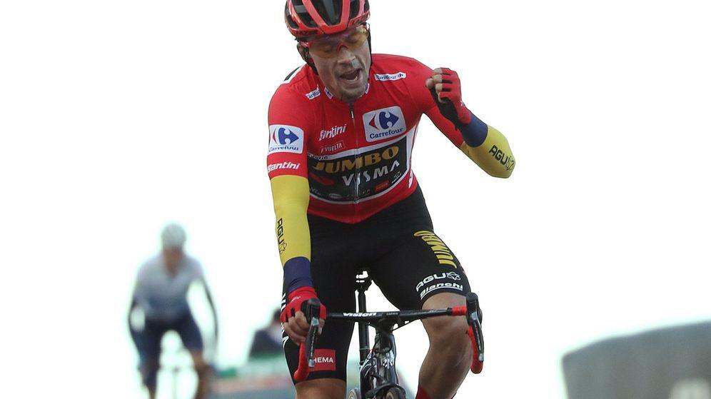 Foto: Roglic se proclamó campeón virtual de la Vuelta a España por segundo año consecutivo. (EFE)