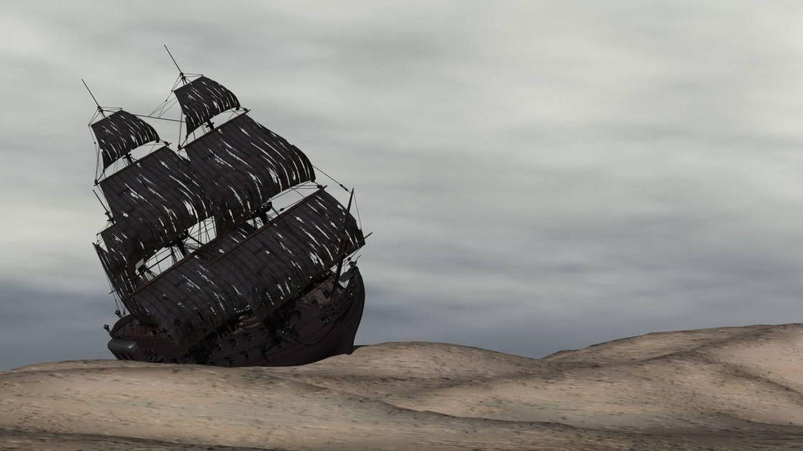 Foto: ¿Cómo llegó este barco hasta ahí? (iStock)