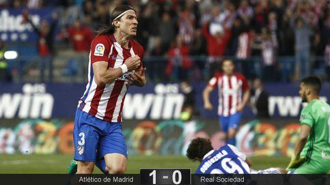 Filipe Luis marca el camino de un Atlético listo para asaltar el Bernabéu