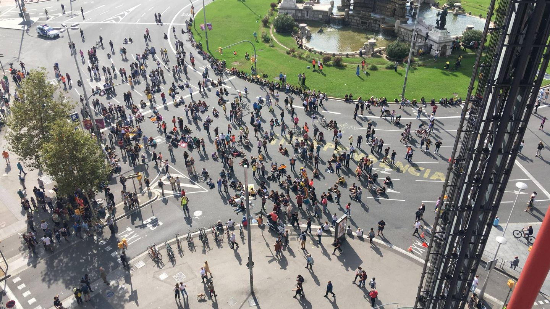 Imagen de la manifestación en Barcelona.