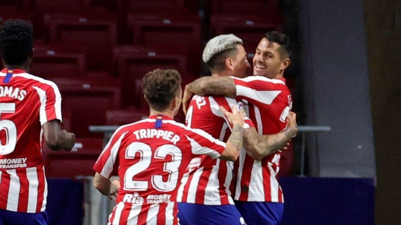 Vitolo desatasca a un Atlético de Madrid que ya apunta a la Champions