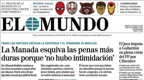 ¿No es esto una violación?: la condena de La Manada, en las portadas de la prensa