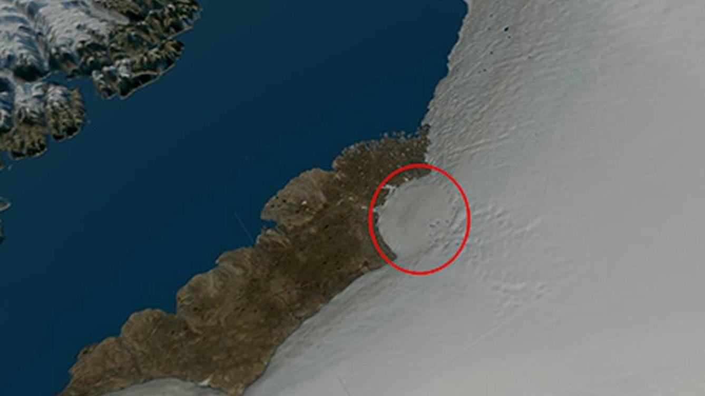 Hallan en Groenlandia un cráter del tamaño de París causado por un meteorito