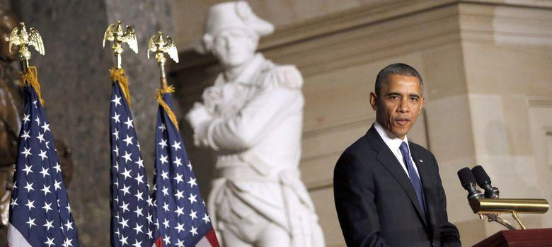 Foto: El presidente de Estados Unidos, Barack Obama, da un discurso en el Capitolio (Efe).
