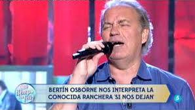 Bertín Osborne canta en 'QTTF'.
