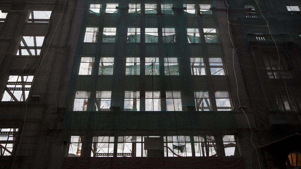 Foto: Fachada de un edificio en construcción. (Reuters)