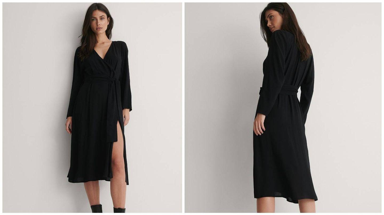Vestido negro de NA-KD. (Cortesía)