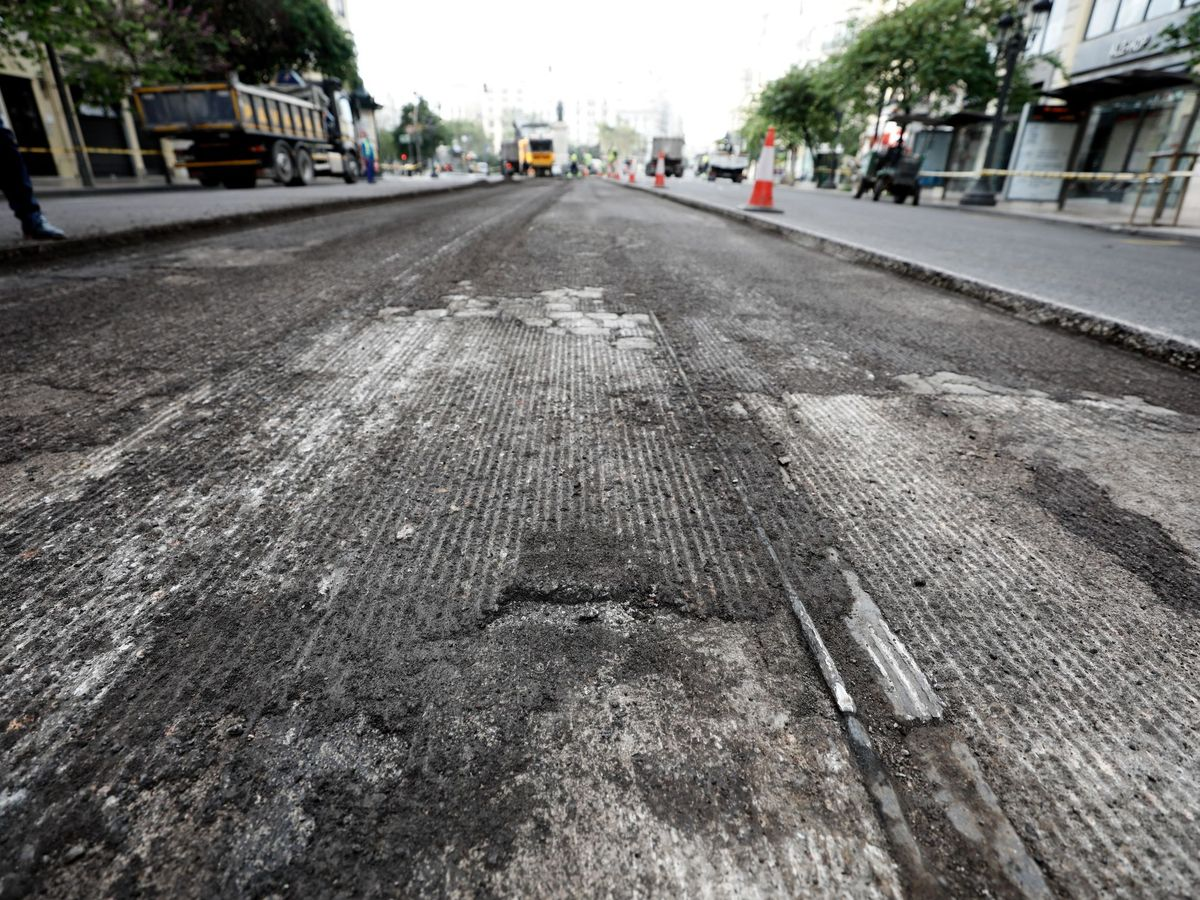 Foto: Obras de peatonalización en Valencia. Foto: EFE Juan Carlos Cárdenas