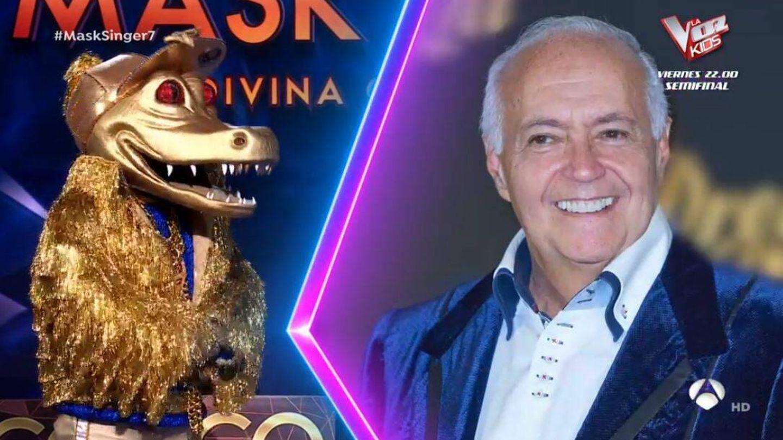 La hipótesis de Javier Calvo ('Mask Singer') para 'Cocodrilo'. (Atresmedia)