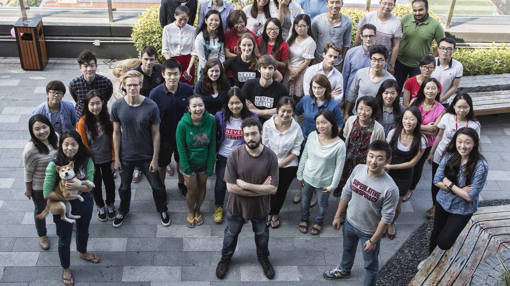 Foto: David Sanmartín, empleado en OnePlus (Zigor Aldama)