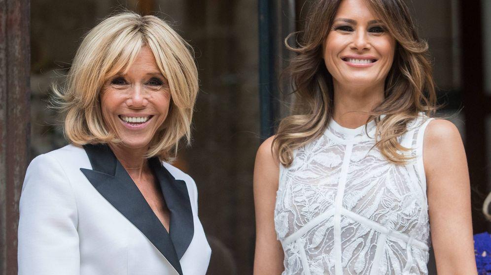 Foto: Melania Trump y Brigitte Macron. (Cordon Press)