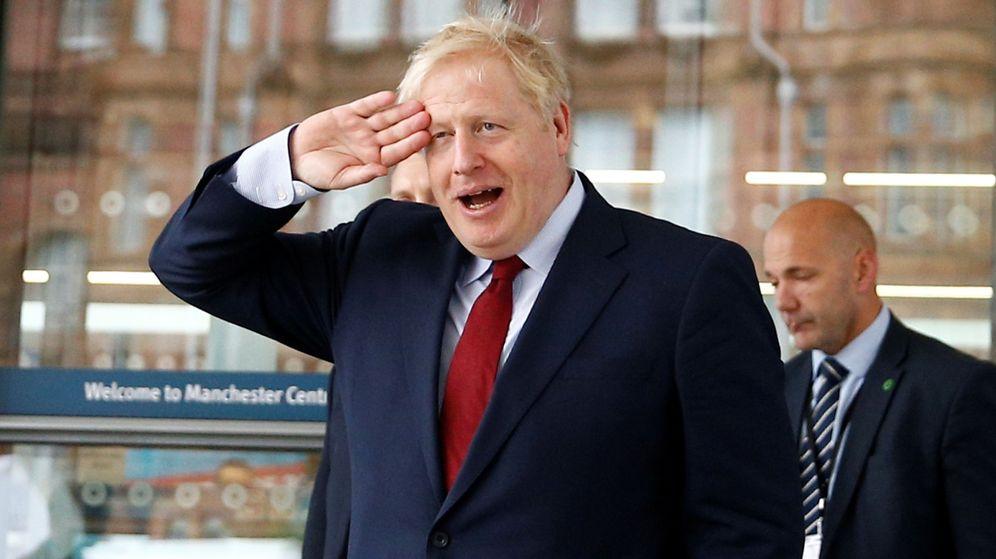 Foto: Boris Johnson en la Conferencia Anual del Partido Conservador (Reuters)