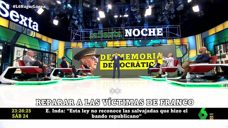 Eduardo Inda, en 'La Sexta Noche'. (Atresmedia)