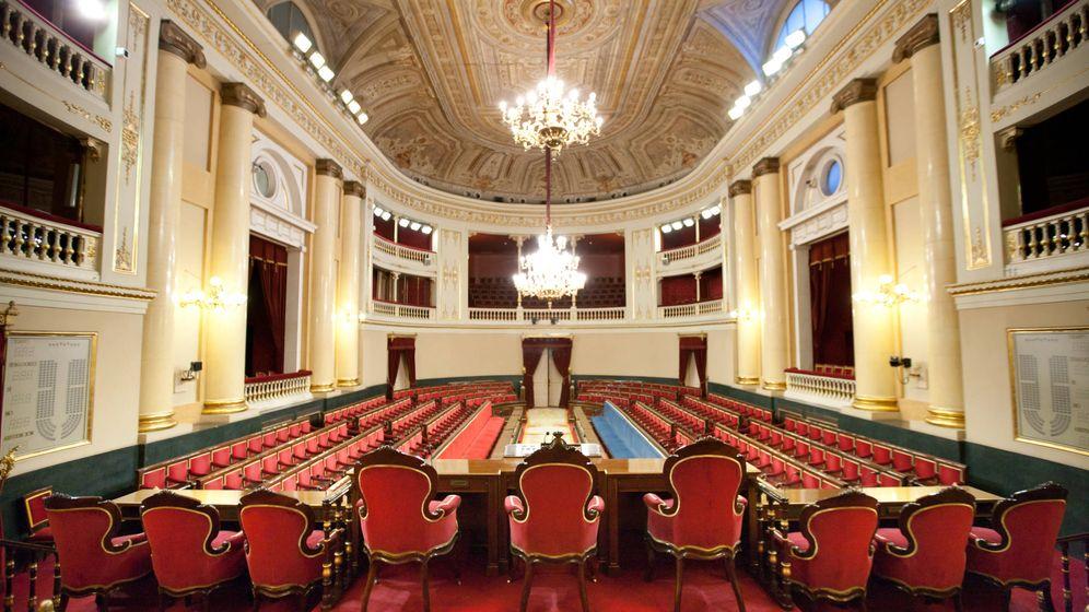 Foto: Antiguo salón de sesiones del Senado. (Senado de España)
