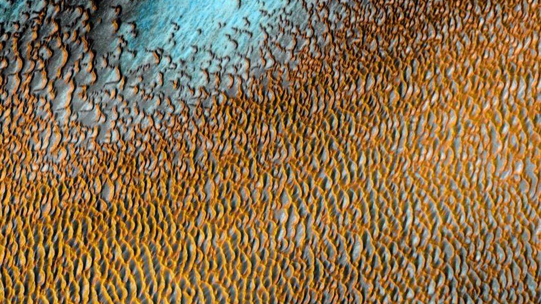 La NASA publica una imagen del 'mar de dunas' de Marte por los 20 años del Odyssey
