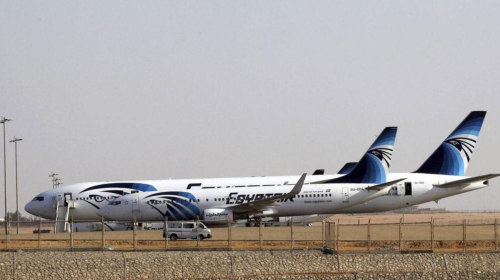 Foto: Aviones de la compañía Egypt Air (EFE)