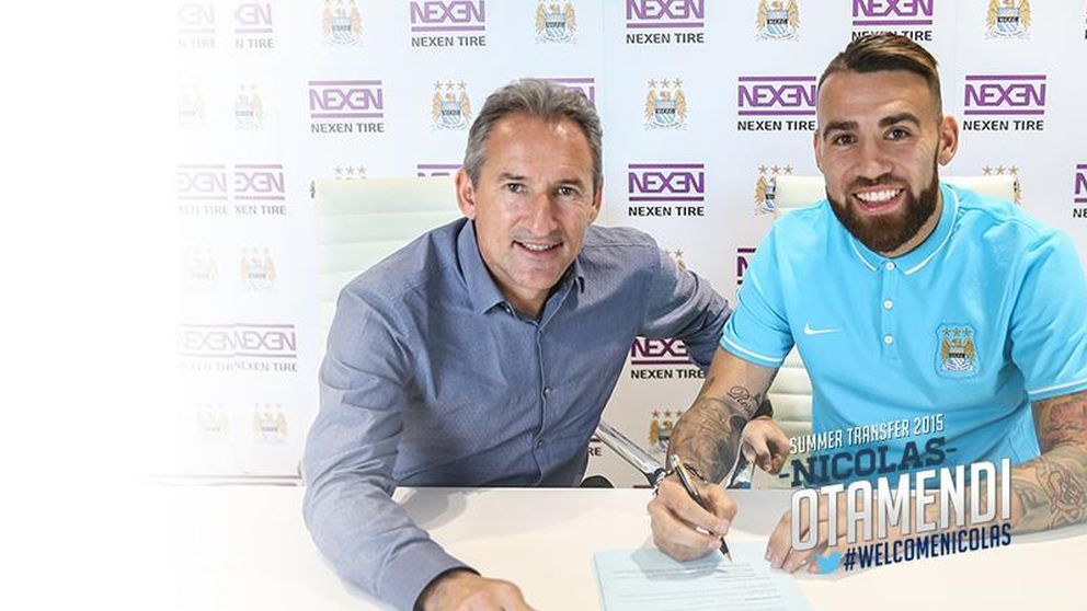 El Manchester City hace oficial el fichaje de Nicolás Otamendi por cinco años
