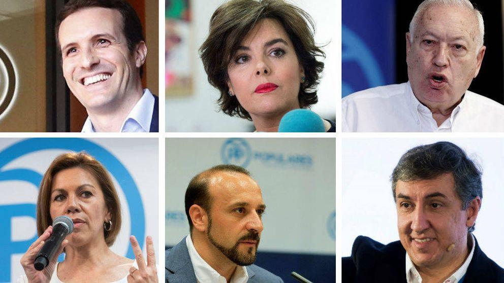 Esta es la lista definitiva de candidatos a sustituir a Mariano Rajoy al frente del PP