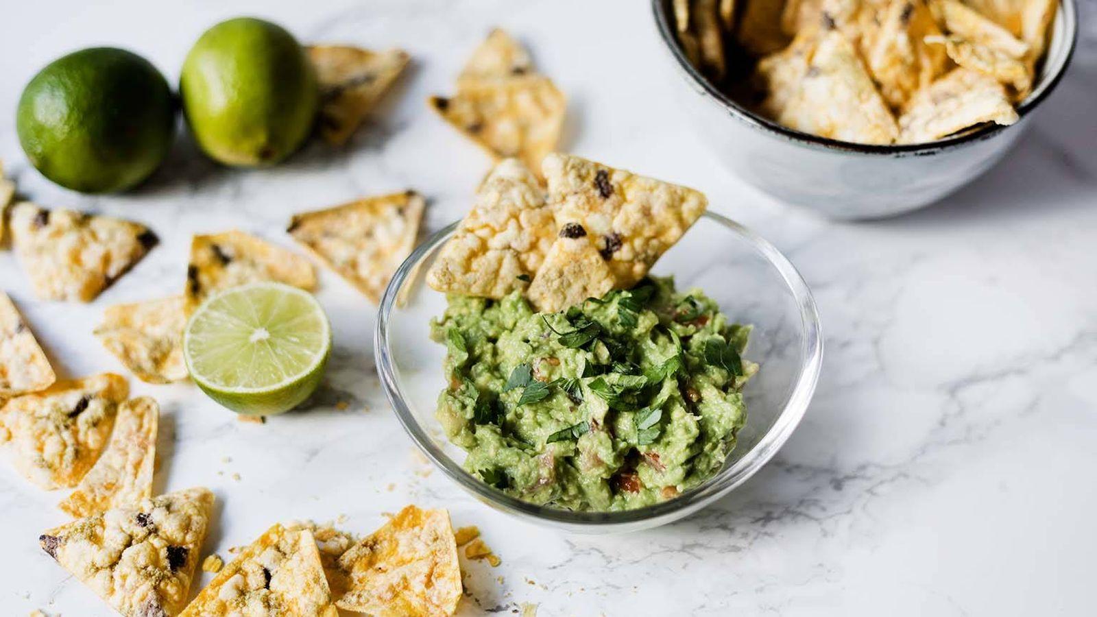 Foto: Guacamole con nachos. (Snaps Fotografía)