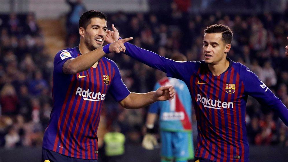 Foto: Suárez marcó dos de los tres goles del Barcelona ante el Rayo Vallecano. (EFE)