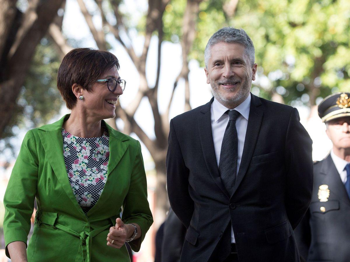 Foto: María Gámez, con Fernando Grande-Marlaska, el pasado mes de marzo. (EFE)