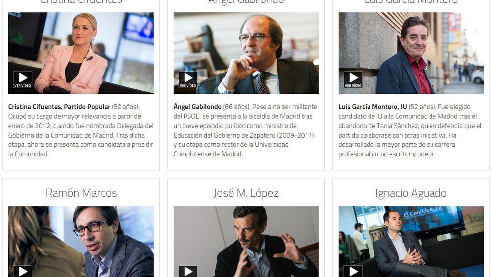 Los candidatos que luchan por Madrid se confiesan ante las cámaras de EC