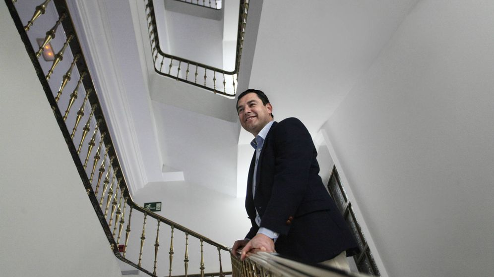 Foto: El presidente del PP andaluz, Juan Manuel Moreno. (E. Villarino)