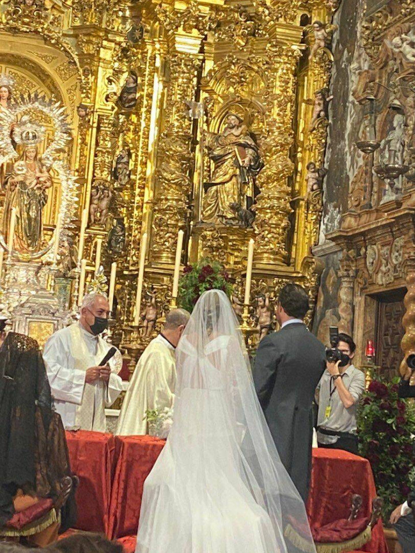 Instantánea de la boda de Micaela y Bosco. (Redes)