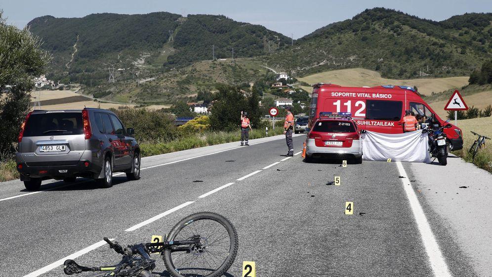 Foto: Imagen de archivo de un accidente de bicicleta. (EFE)