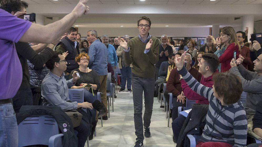 Foto: Íñigo Errejón, durante un acto de la campaña interna de Podemos en Sevilla. (EFE)