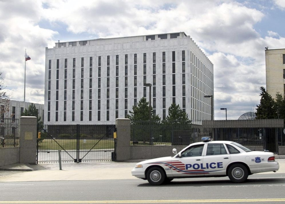 Foto: Imagen de archivo de la embajada rusa en Washington (Reuters)