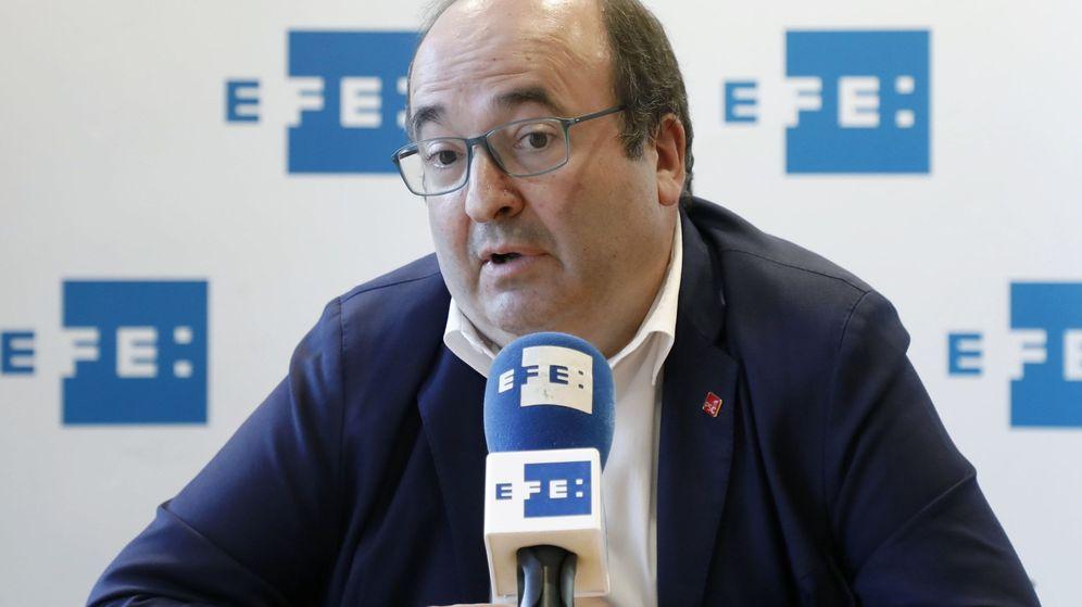 Foto:  El primer secretario del PSC, Miquel Iceta, durante una entrevista. (EFE)