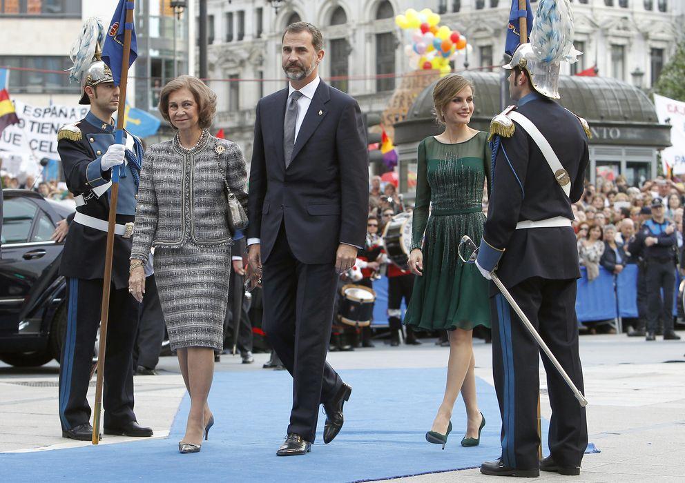 Foto: Los príncipes de asturias y la reina doña sofía