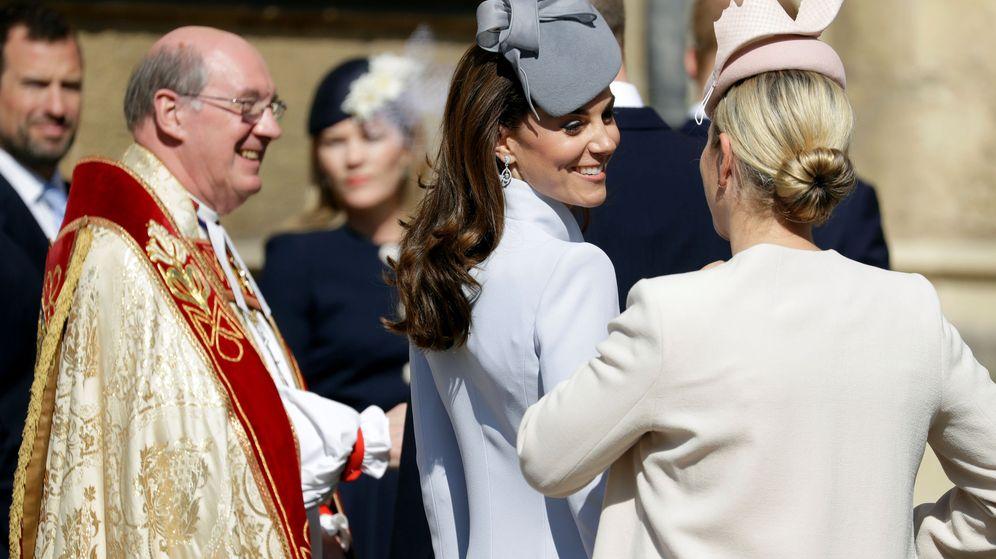 Foto: Kate Middleton a su llegada a la capilla de San Jorge. (Reuters)