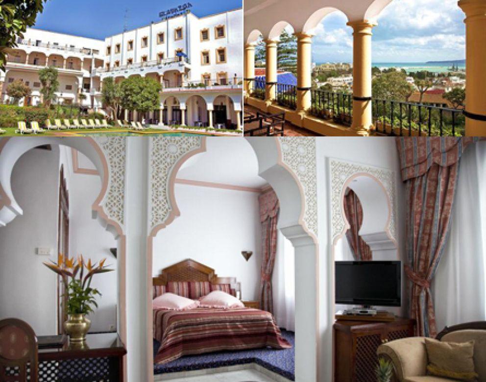 Imágenes del hotel El Minzeh que ocuparon durante su estancia en Tánger