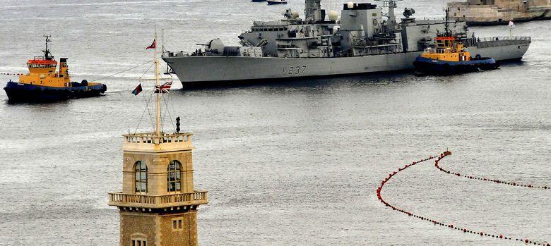 Foto: La fragata británica 'Westminster', atracada en el puerto de Gibraltar el pasado mes de agosto (Efe)